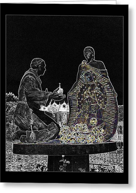 Nuestra Senora De Guadalupe Greeting Cards - Virgen de Guadalupe 3 Greeting Card by Totto Ponce