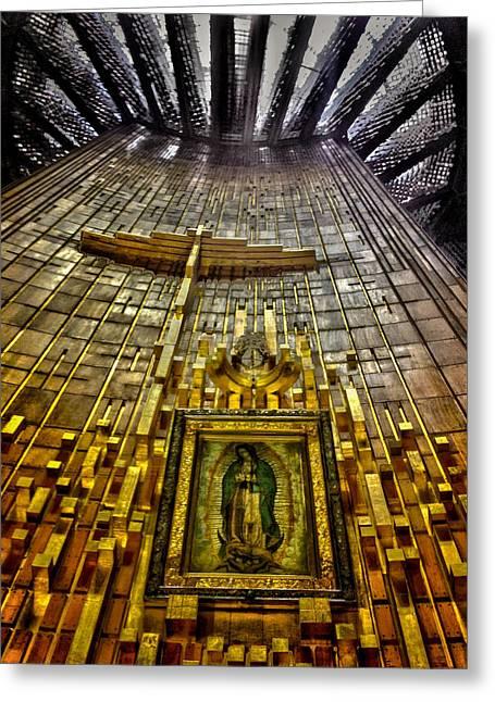 Nuestra Senora De Guadalupe Greeting Cards - Virgen de Guadalupe 7 Greeting Card by Totto Ponce