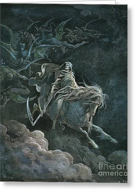 Dore Greeting Cards - Vision Of Death Greeting Card by Granger