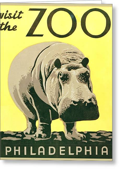 Visit The Zoo Greeting Card by Unknown