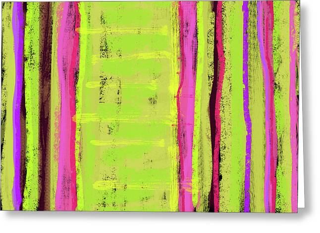 Repetition Paintings Greeting Cards - Visual Cadence XXIII Greeting Card by Julie Niemela