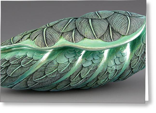 Feathers Sculptures Greeting Cards - Volez Mes Bleus Partis Greeting Card by Jacques Vesery