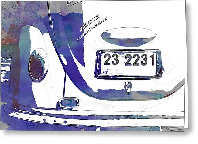 Vw Beetle Greeting Cards - Volkswagen Beetle Greeting Card by Nomad Art And  Design