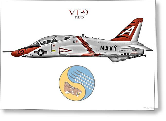 Carrier Greeting Cards - VT-9 Tigers Greeting Card by Clay Greunke