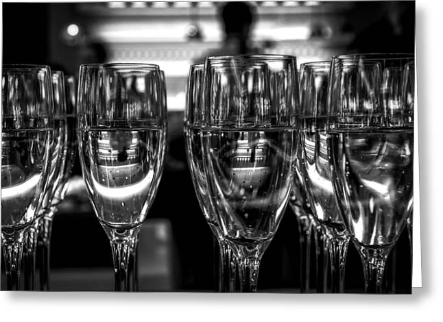 Champagne Glasses Greeting Cards - Waiting For Midnight Greeting Card by Skitter Photo