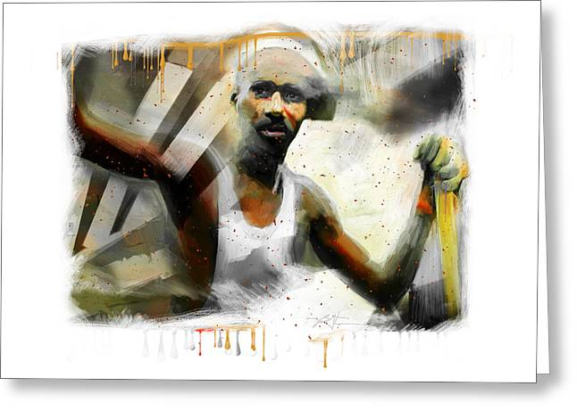 African-american Digital Greeting Cards - Waiting For The Paint To Dry... Greeting Card by Bob Salo