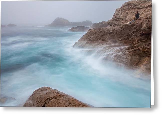 Big Sur Beach Greeting Cards - Waiting... Greeting Card by Jonathan Nguyen