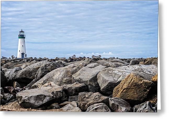 Santa Cruz Ca Greeting Cards - Walton Lighthouse Greeting Card by James Hammond