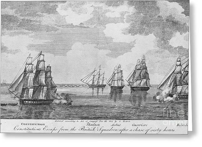 Shannon Greeting Cards - War Of 1812: Sea Battle Greeting Card by Granger