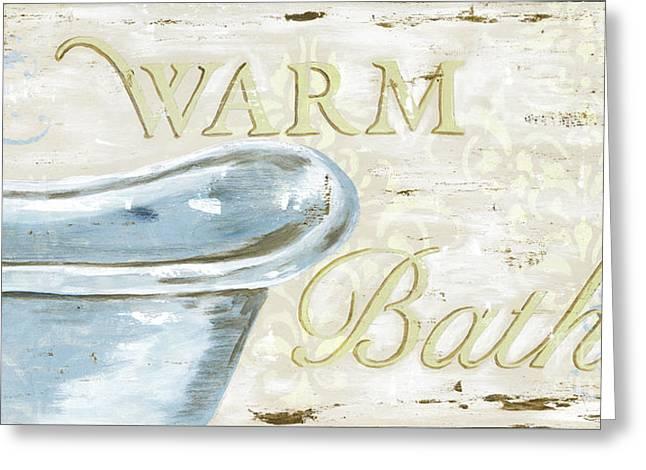 Warm Bath 2 Greeting Card by Debbie DeWitt
