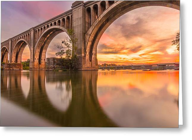 Warm Sunset At The A Line  Greeting Card by Chris Marcussen