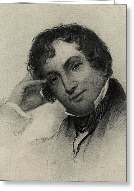 Irving Greeting Cards - Washington Irving, 1783-1859. American Greeting Card by Ken Welsh