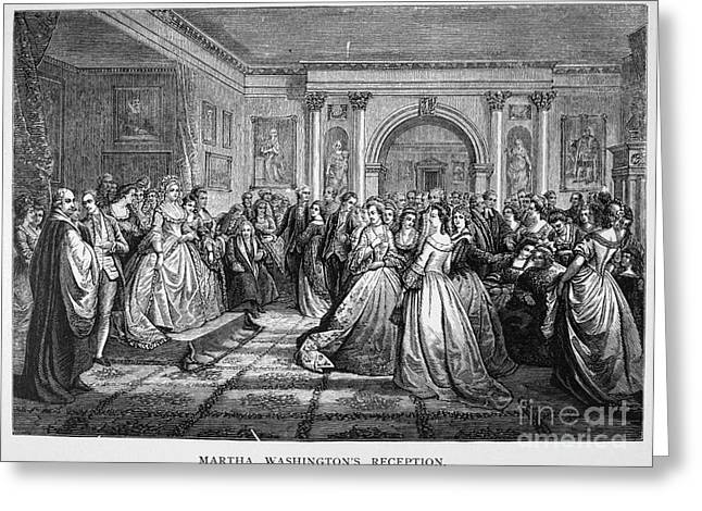 Custis Greeting Cards - Washington Reception Greeting Card by Granger