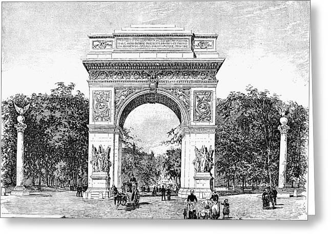 Washington Square Park Greeting Cards - Washington Square Arch Greeting Card by Granger