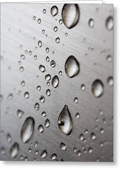 Moist Greeting Cards - Water Drops Greeting Card by Frank Tschakert