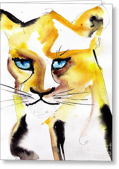 Recently Sold -  - Lioness Greeting Cards - Lioness In Love Greeting Card by Eric Sorensen
