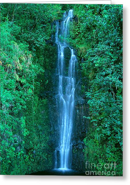 Mountainside Art Greeting Cards - Waterfall Close-Up Greeting Card by Bill Brennan - Printscapes