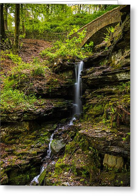 Walking Greeting Cards - Waterfall In The Forest. Greeting Card by Daniel Kay