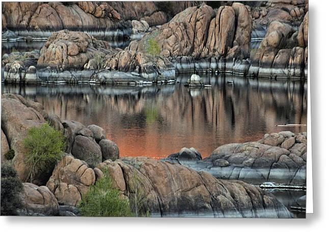 Prescott Greeting Cards - Watson Lake Greeting Card by David Kehrli