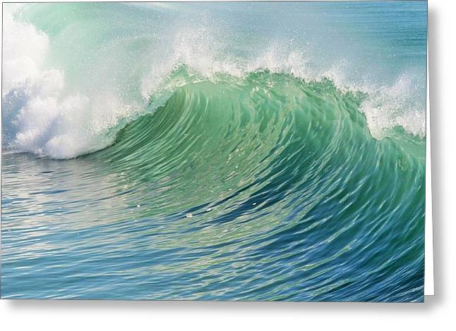 Calming Ocean Waves Greeting Cards - Waves Greeting Card by Marianna Mills