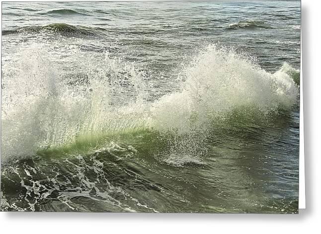 Waves Greeting Card by Svetlana Sewell