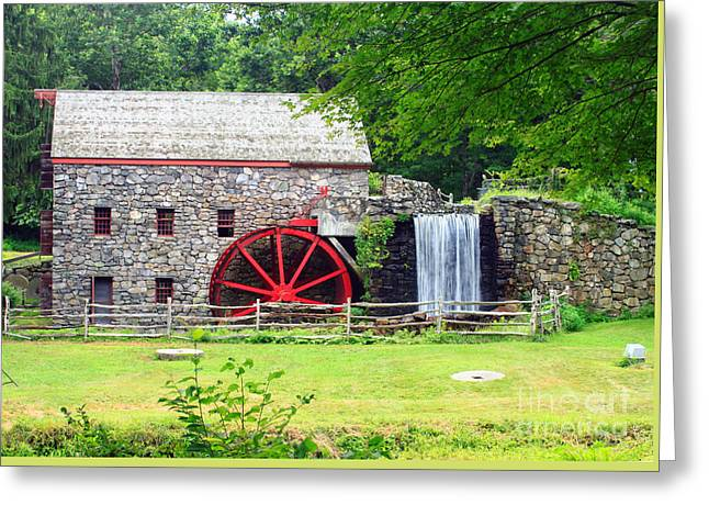 Sudbury Ma Photographs Greeting Cards - Wayside Inn Grist Mill Greeting Card by James Beckwith