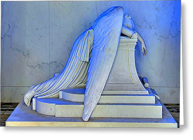 Grave Greeting Cards - Weeping Angel Greeting Card by Ellis C Baldwin
