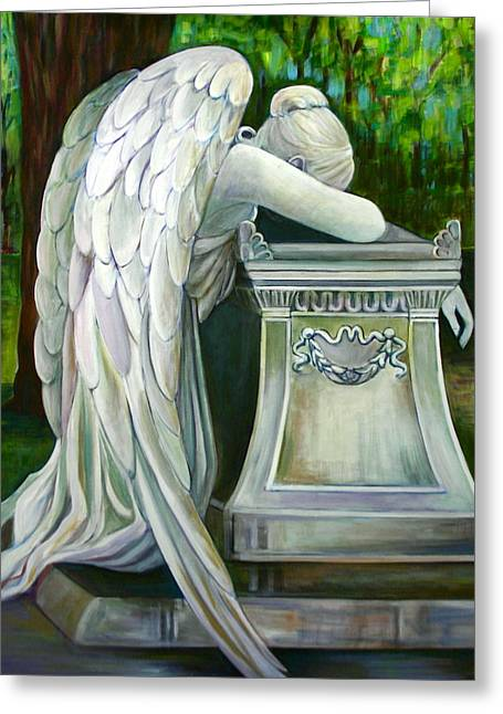 Wetmore Greeting Cards - Weeping Angel Greeting Card by Susan Santiago