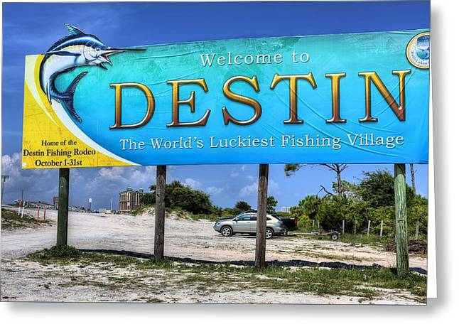 Destin Greeting Cards - Welcome to Destin Greeting Card by JC Findley