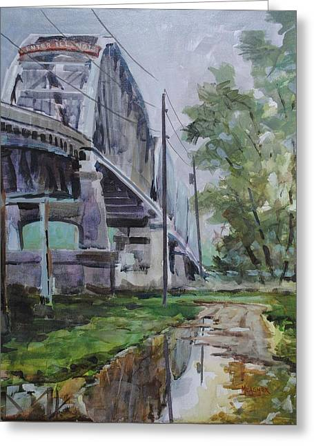 Indiana Rivers Paintings Greeting Cards - Welcome To Illinois Greeting Card by Spencer Meagher