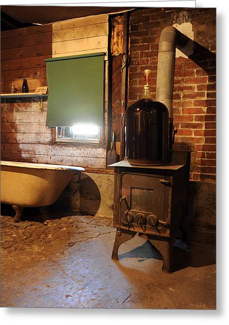 Wood Stove Greeting Cards - West End Basement Brewing Greeting Card by Jason Evans