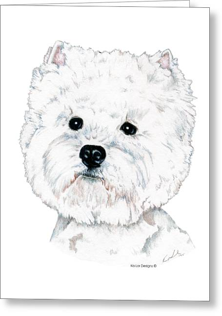 West Highland White Terrier, Westie Greeting Card by Kathleen Sepulveda
