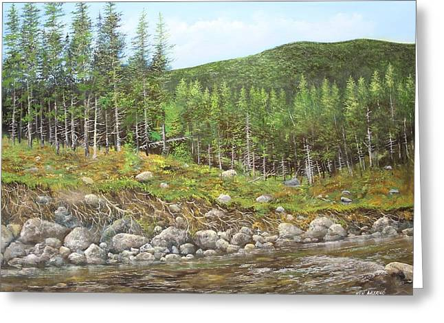 West River Greeting Card by Ken Ahlering
