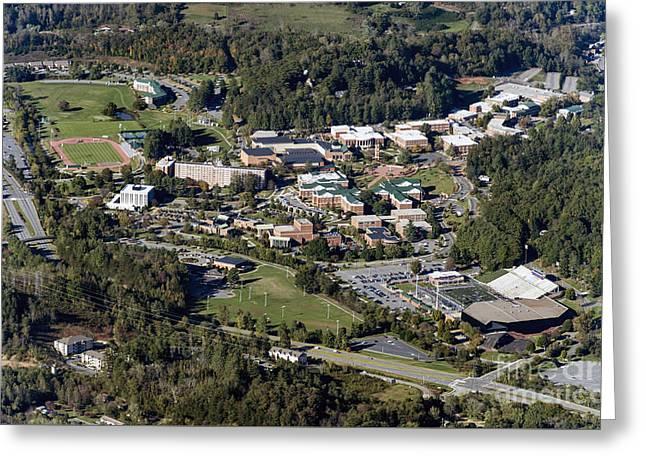 Western Carolina University Campus  Greeting Card by David Oppenheimer