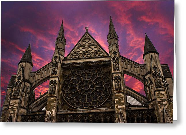 Westminster Abbey Greeting Card by Martin Newman