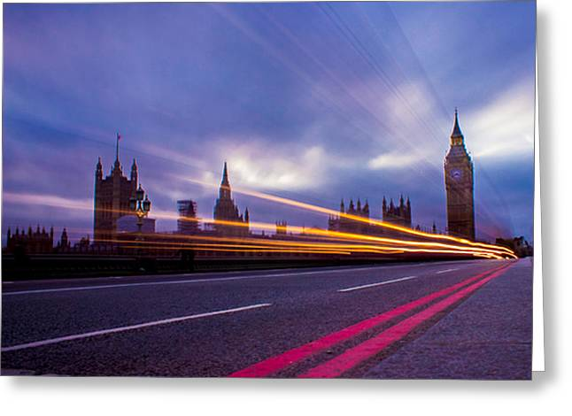 Westminster Bridge Greeting Card by Martin Newman