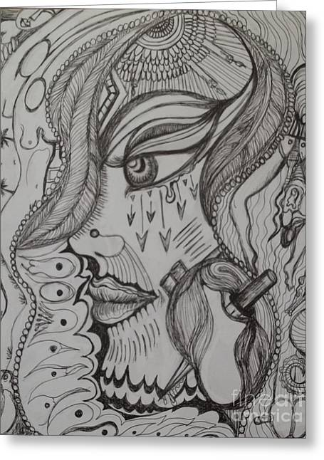 Sarasota Artist Drawings Greeting Cards - Where Greeting Card by Anita Wexler