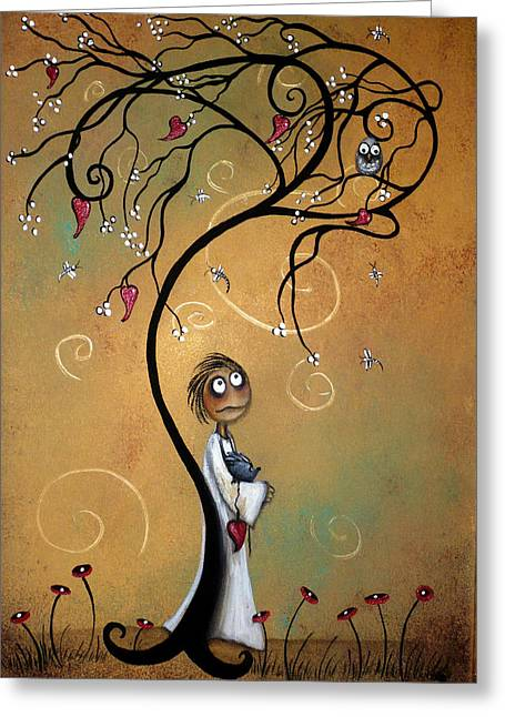Whimsical. Greeting Cards - Whichever Way the Wind Blows Greeting Card by Charlene Zatloukal