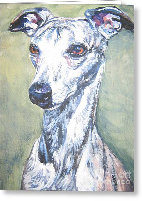Whippet Greeting Cards - Whippet Greeting Card by Lee Ann Shepard