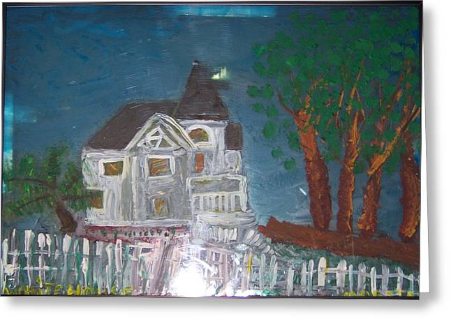Glass Greeting Cards - wHITE hOUSE 2 Greeting Card by Maggie Cruser
