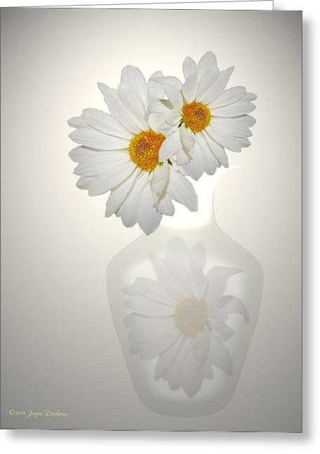 White On White Daisies Greeting Card by Joyce Dickens