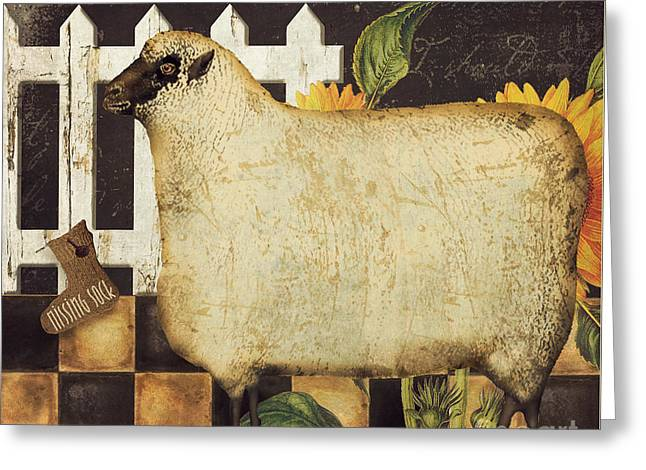 Muzzle Greeting Cards - White Wool Farms Greeting Card by Mindy Sommers