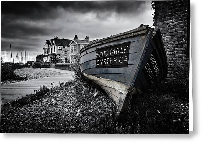 Whitstable Oysters Greeting Card by Ian Hufton