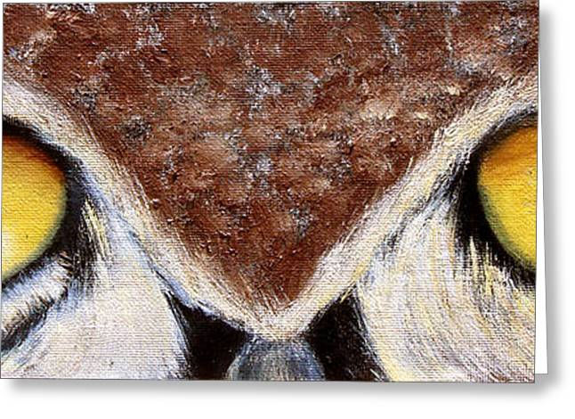 Eyes Paintings Greeting Cards - Whos Watching Who Greeting Card by Darlene Richardson