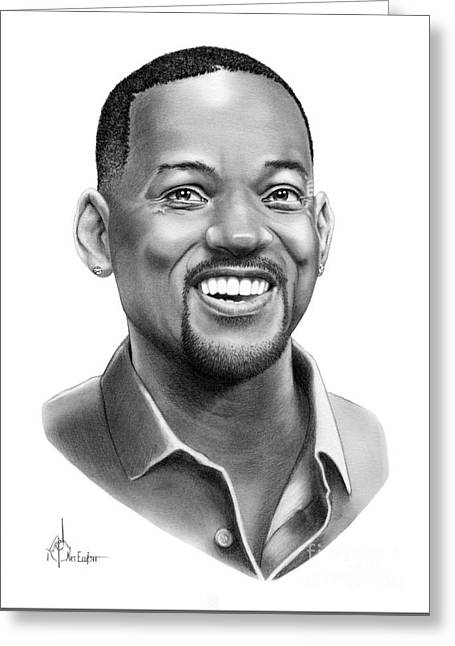Will Smith Greeting Card by Murphy Elliott