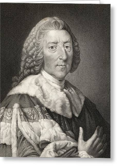 William Pitt The Elder 1st. Earl Of Greeting Card by Vintage Design Pics