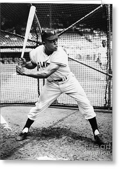 African Clothing Greeting Cards - Willie Mays (1931- ) Greeting Card by Granger