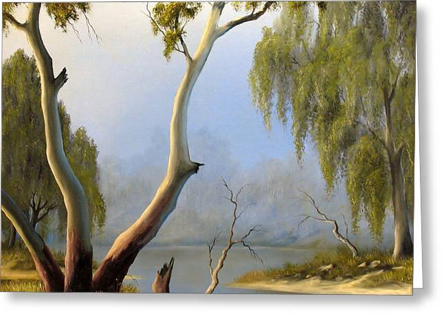 River Reliefs Greeting Cards - Willow Creek Greeting Card by John Cocoris
