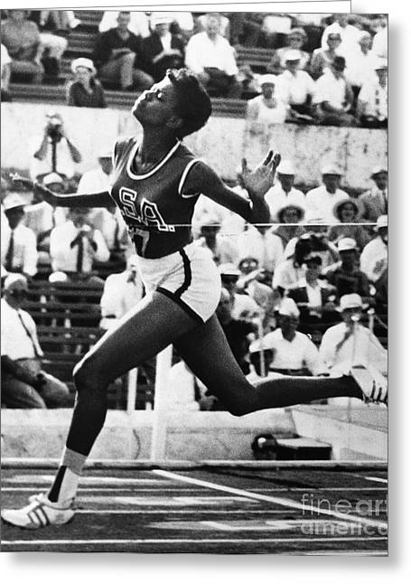Footrace Photographs Greeting Cards - Wilma Rudolph (1940-1994) Greeting Card by Granger