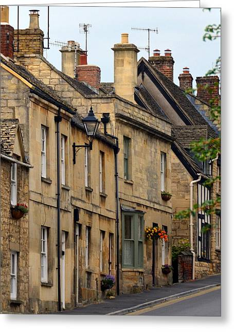 Winchcombe Street Scene Greeting Card by Carla Parris